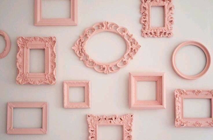 pink, frame, and pastel image