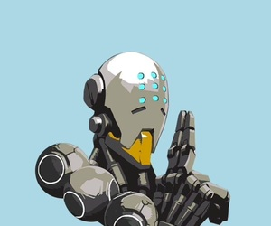 zenyatta, lockscreen, and overwatch image