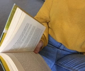 book, yellow, and tumblr image