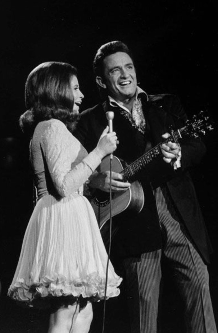 Johnny Cash, june carter, and music image
