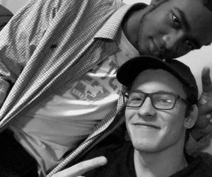 black and white, glasses, and singer image