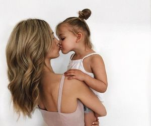 family, kids, and kiss image