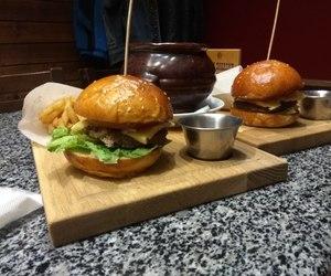 French Fries, hamburger, and yummy-yummy image