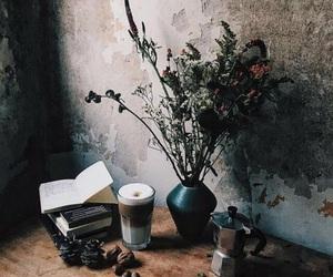 books, dark, and flowers image