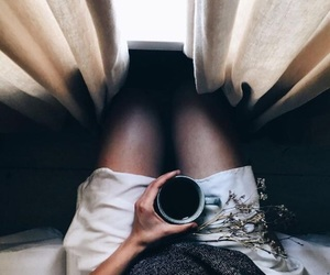 black, coffee, and curtains image