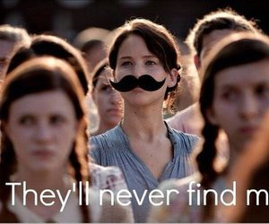 funny, moustache, and the hunger games image