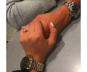 couple, lové, and hands image