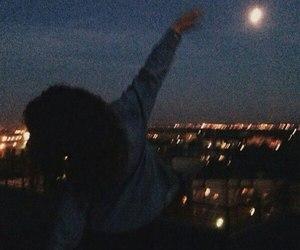 night, moon, and tumblr image