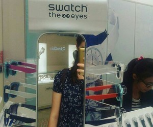mirror, swatch, and watches image