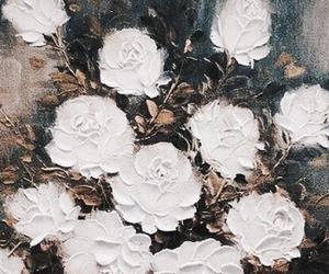 art, beautifull, and flowers image