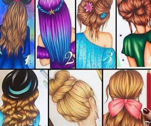 hair, styles, and ❤ image