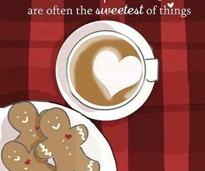 coffee, cookie, and quote image