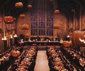 hogwarts, Halloween, and harry potter image