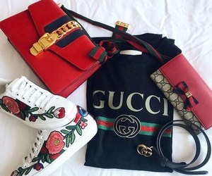 sneakers, bag, and fashion image
