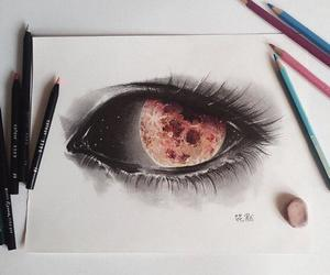 art, beauty, and eyes image