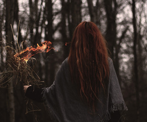 autumn, fire, and fall image
