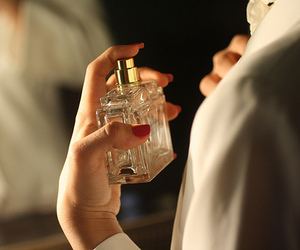 perfume, vintage, and nails image