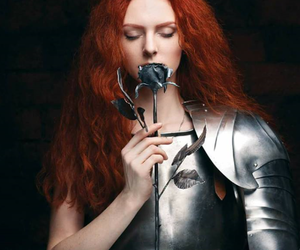 black rose, redhead, and plate armor image