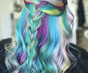 colour, style, and rainbowhair image