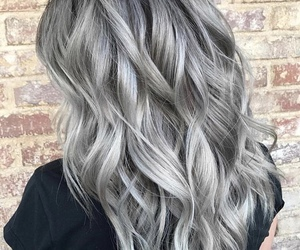 grey, hair, and grannyhair image
