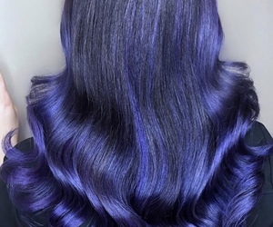 colour, hair, and purple image