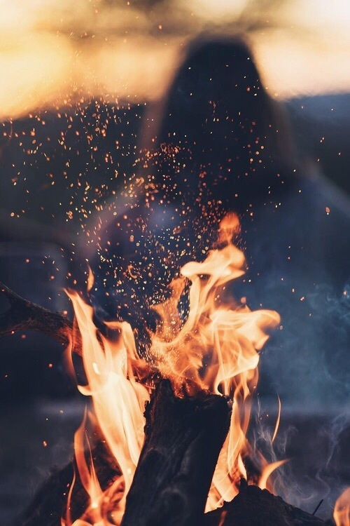 fire and autumn image