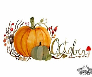 october, art, and fall image