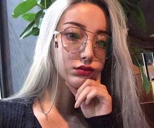 girl, glass, and hair image