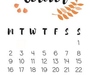 autumn, calendar, and design image