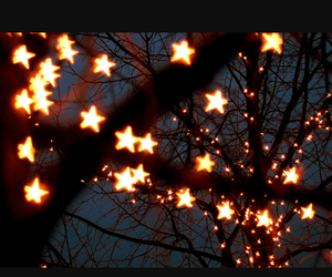autumn and fairylights image