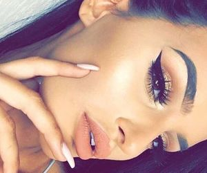 eyes, makeup look, and girl image