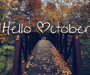 autumn and hello october image
