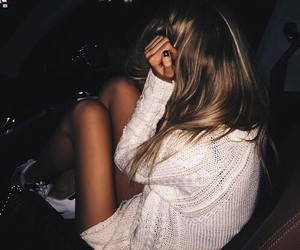 car, girl, and shy image