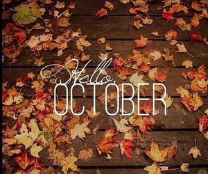 autmn, october, and hello october image