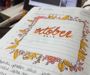 autumn, bullet, and journal image