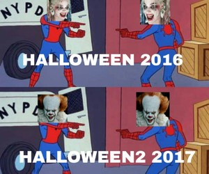 Halloween, harley quinn, and it image