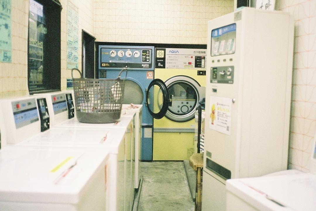 beautiful, japan, and laundry image