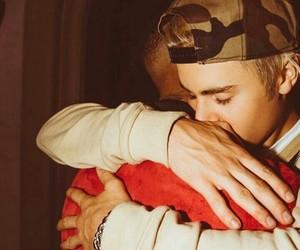 justin bieber and hug image