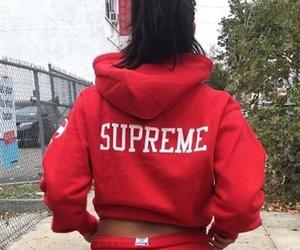 fashion, supreme, and girl image