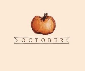 october, autumn, and pumpkin image