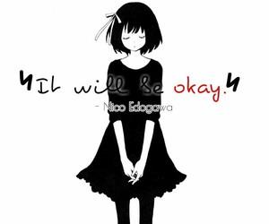 monochrome, sad, and girl image