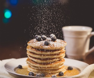 pancakes, breakfast, and sugar image
