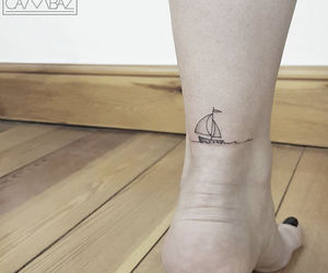 boat, tattoo, and cute image