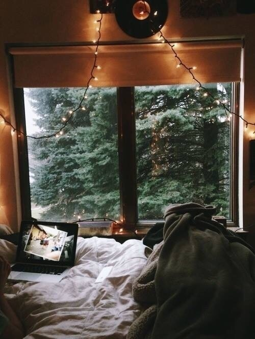 light, cozy, and autumn image