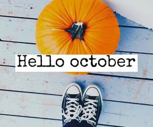 fall, october, and pumpkin image