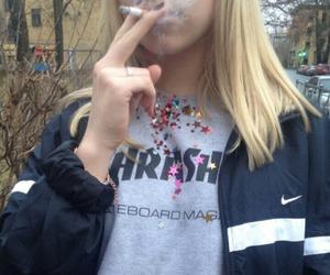 cigarette, people, and smoking image