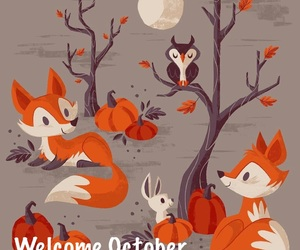 autumn, autunno, and fox image