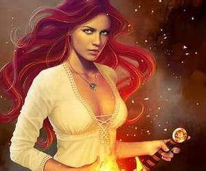 redhead art, fire lady sword, and wendy tyler ryan art image