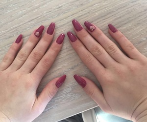 heart, manicure, and nails image