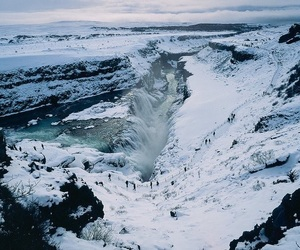 nature, landscape, and snow image